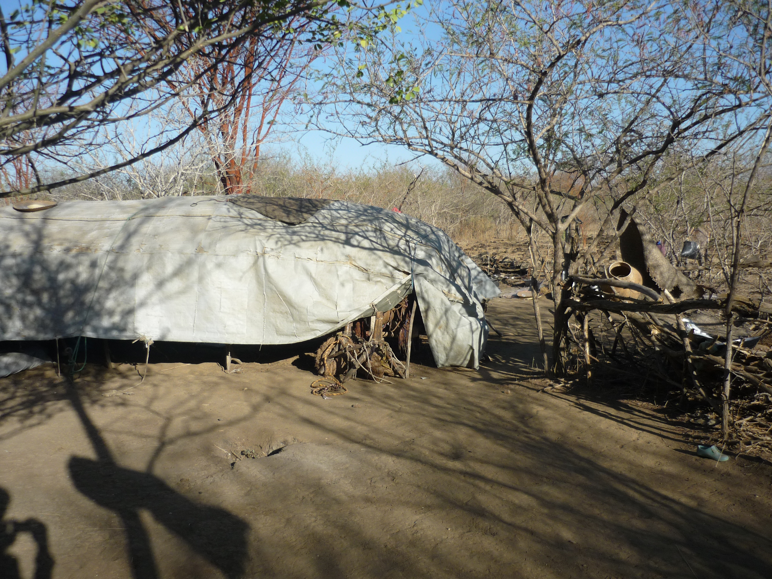 "A typical nomadic camp or ""ferikh"", Central Chad"