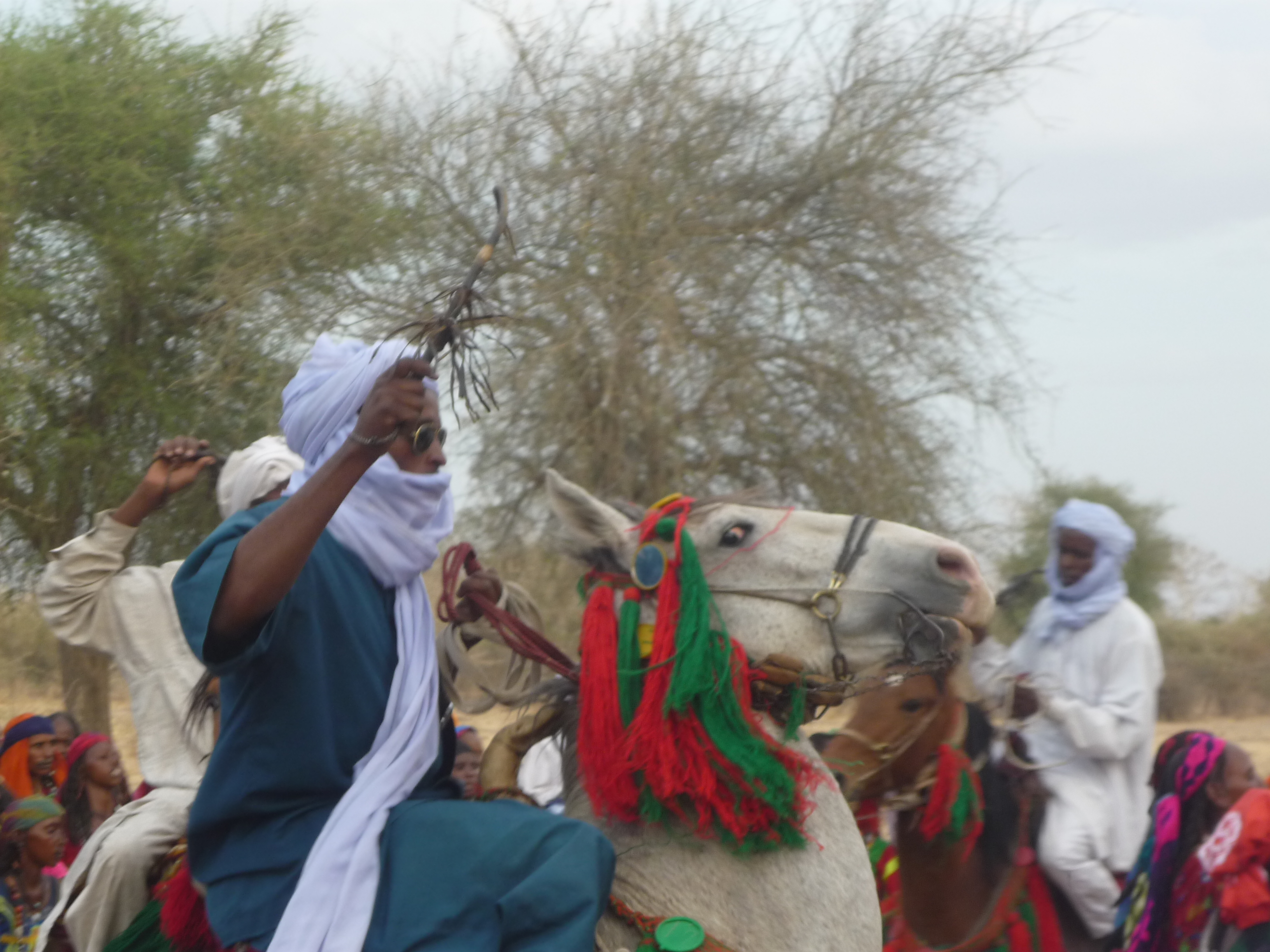 Men and their horses at a ferikh marriage