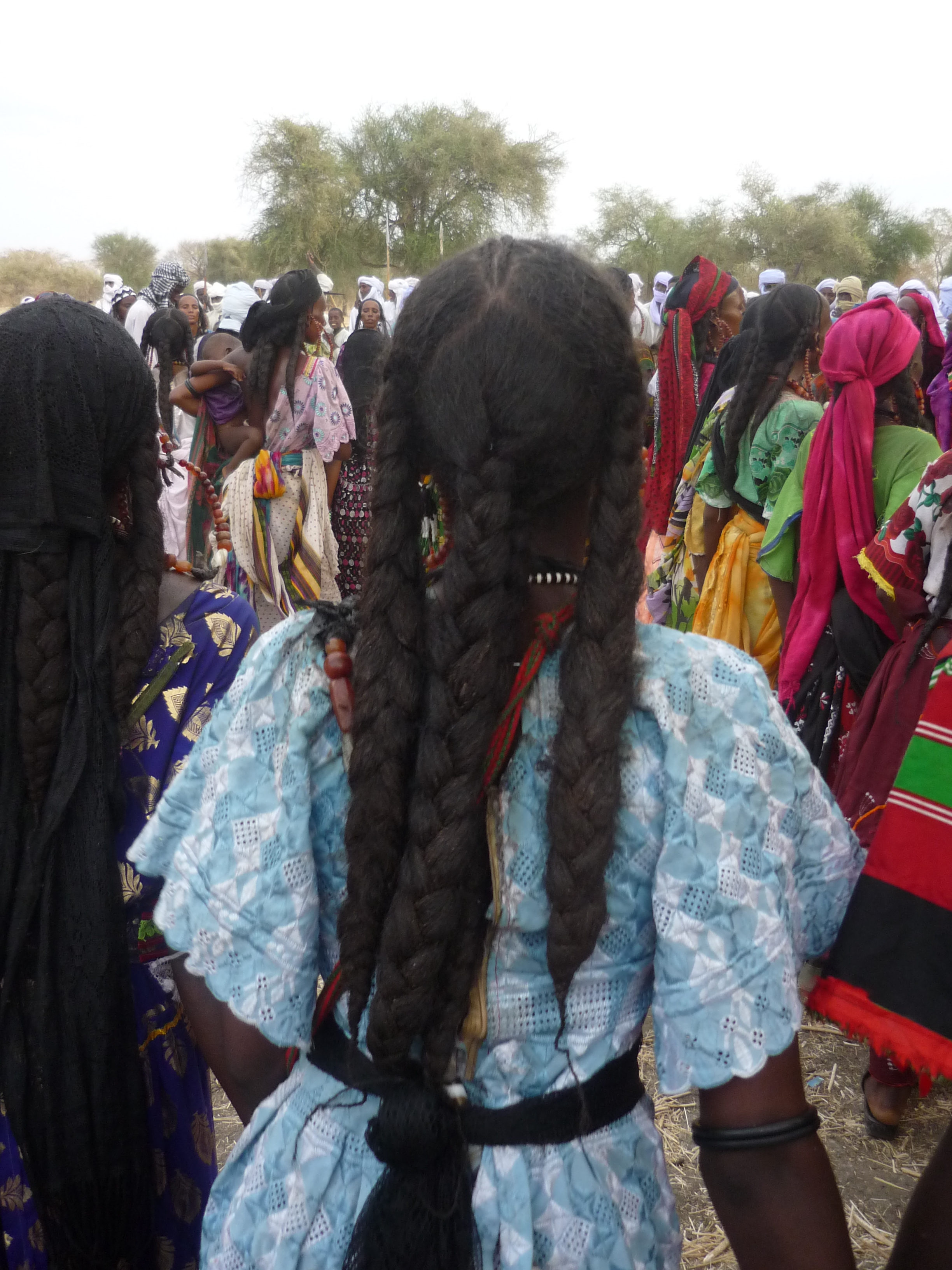Women and their beautiful hair at a ferikh marriage ceremony